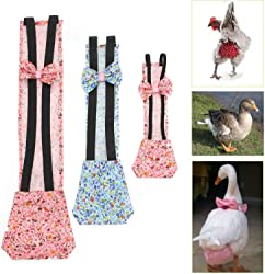 FidgetKute 2PCS Pet Goose Duck Chicken Poultry Cloth Diaper Adjustable Easy to Use 4 Size Show One Size