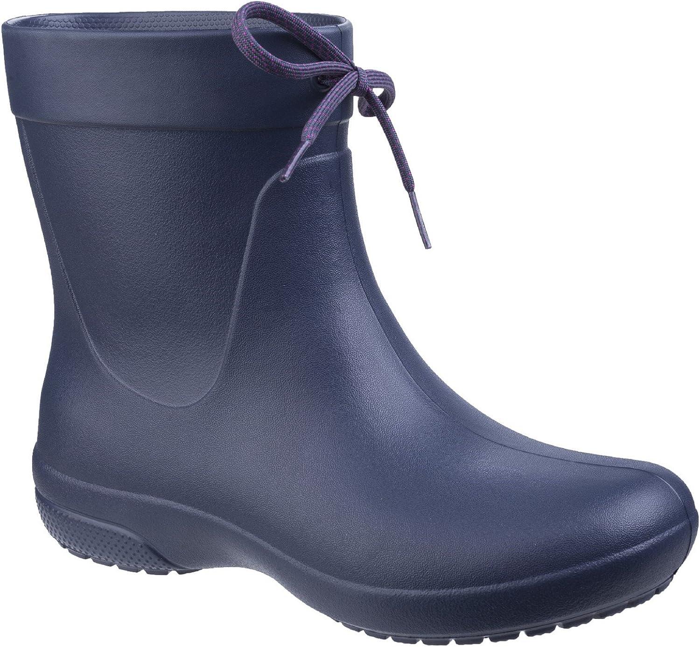 Crocs Womens Ladies Freesail Shorty Rain Boots (5 US) (Navy)