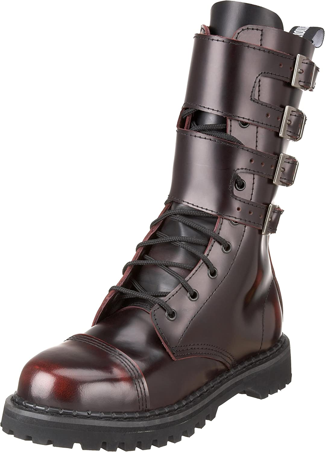 Demonia Attack-10 - gothic punk industrial ranger leather boots 3,5-13