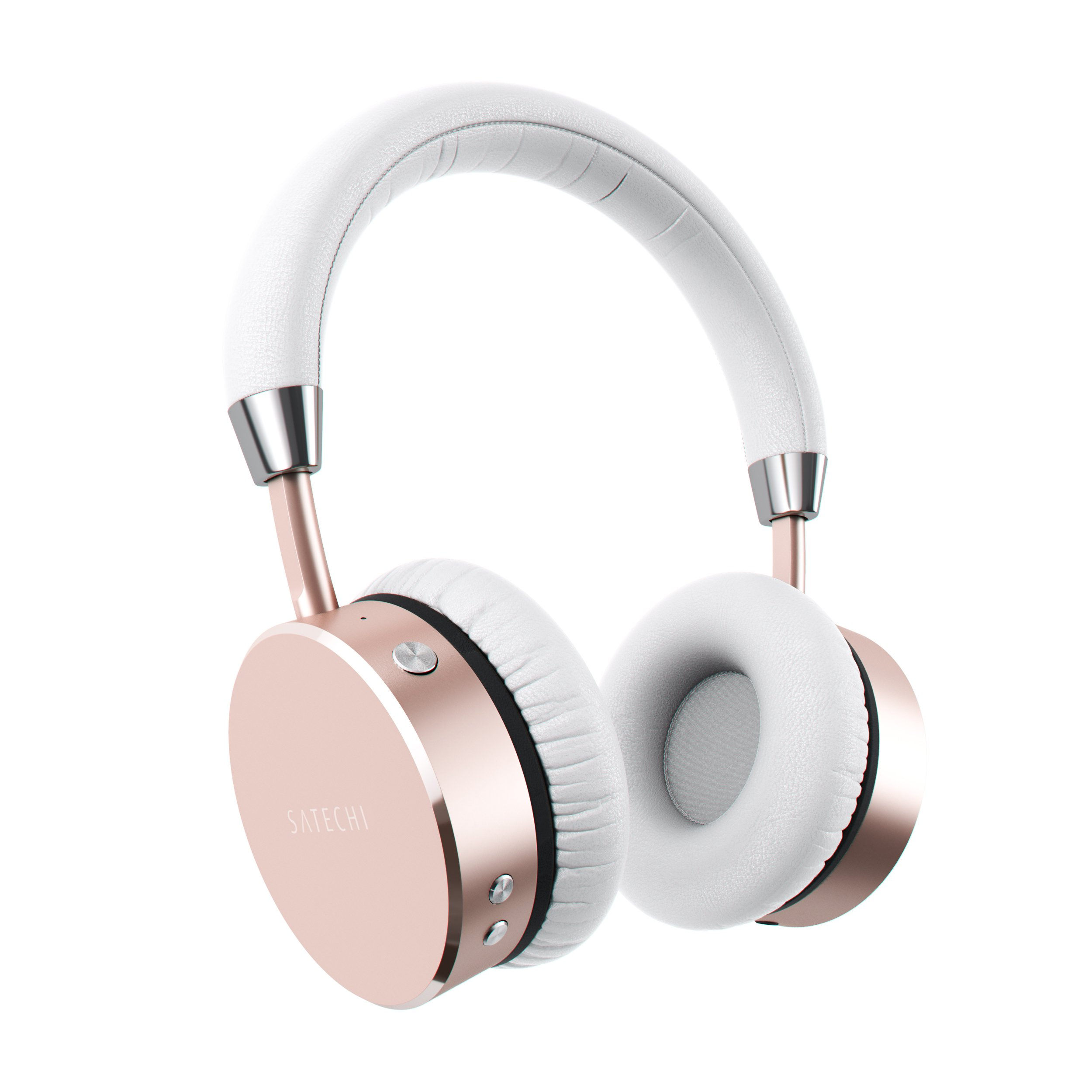 Amazon Com Satechi Aluminum Bluetooth Wireless Headphones With Enhanced Bass 3 5mm Audio Out Jack Compatible With Iphone 11 Pro Max 11 Pro 11 Xs Max Xs Xr X 8 Plus 8 2019 Ipad 2018 Ipad Pro Rose Gold Electronics