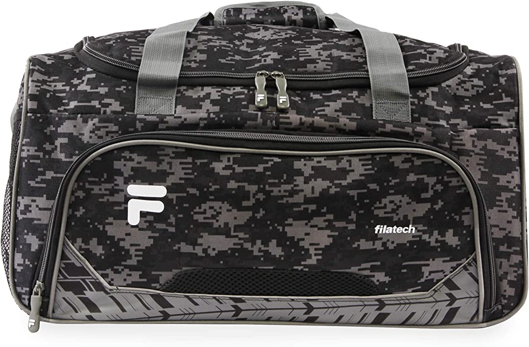 Fila Source Sm Travel Gym Sport Duffel Bag, Black Digi Camo (Black) - FL-SD-8319-BKDC