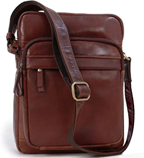 Visconti Messenger Bag - Vintage Leather - iPad/Travel/Cross Body/Shoulder -VT1 - Cruz - Tan