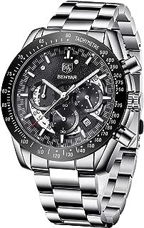 BENYAR Mens Chronograph Analog Waterproof Watch-Luxury Business Dress Watches Perfect for Birthday Gift
