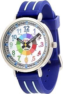 Kiddus Montre analogique pour enfant Apprenez l'heure avec notre système Time Teacher facile. Exercices compris. Mouvement...