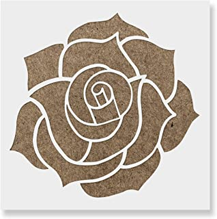 Rose Stencil Template - Reusable Stencil with Multiple Sizes Available