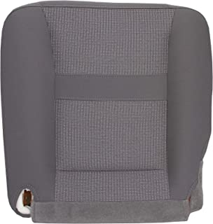 The Seat Shop Driver Bottom Replacement Cloth Seat Cover - Medium Slate Gray (Compatible with 2006-2008 Dodge Ram SLT 1500, and 2006-2009 SLT 2500 and 3500)