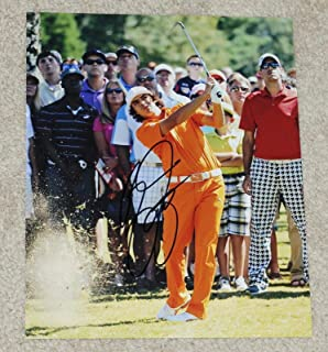 Autographed Rickie Fowler Photo - Star 8x10 Orange Puma - Autographed Golf Photos