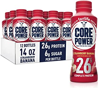 Best Core Power fairlife Core Power High Protein Milk Shake, Strawberry Banana, 14 Fl Oz (Pack of 12) Review