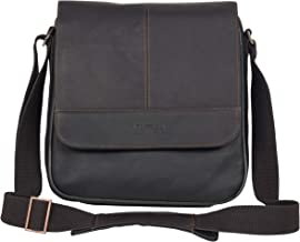 Kenneth Cole Reaction Manhattan Full-Grain Colombian Leather Anti-Theft RFID Crossbody Tablet Bag