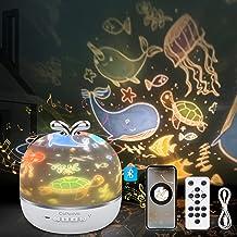 CoPedvic Sterrenhemel projectorlamp, 3-in-1 bluetooth-luidspreker, led-muziek, nachtlampje, kind met 6 projectiefilms, 360...