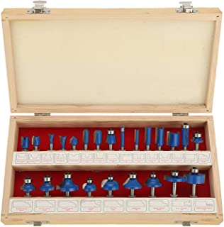 """Home-Man Tungsten Carbide Router Bit Set, 24 piece Router Set with ¼"""" Shank, for Beginners to Commercial Users"""