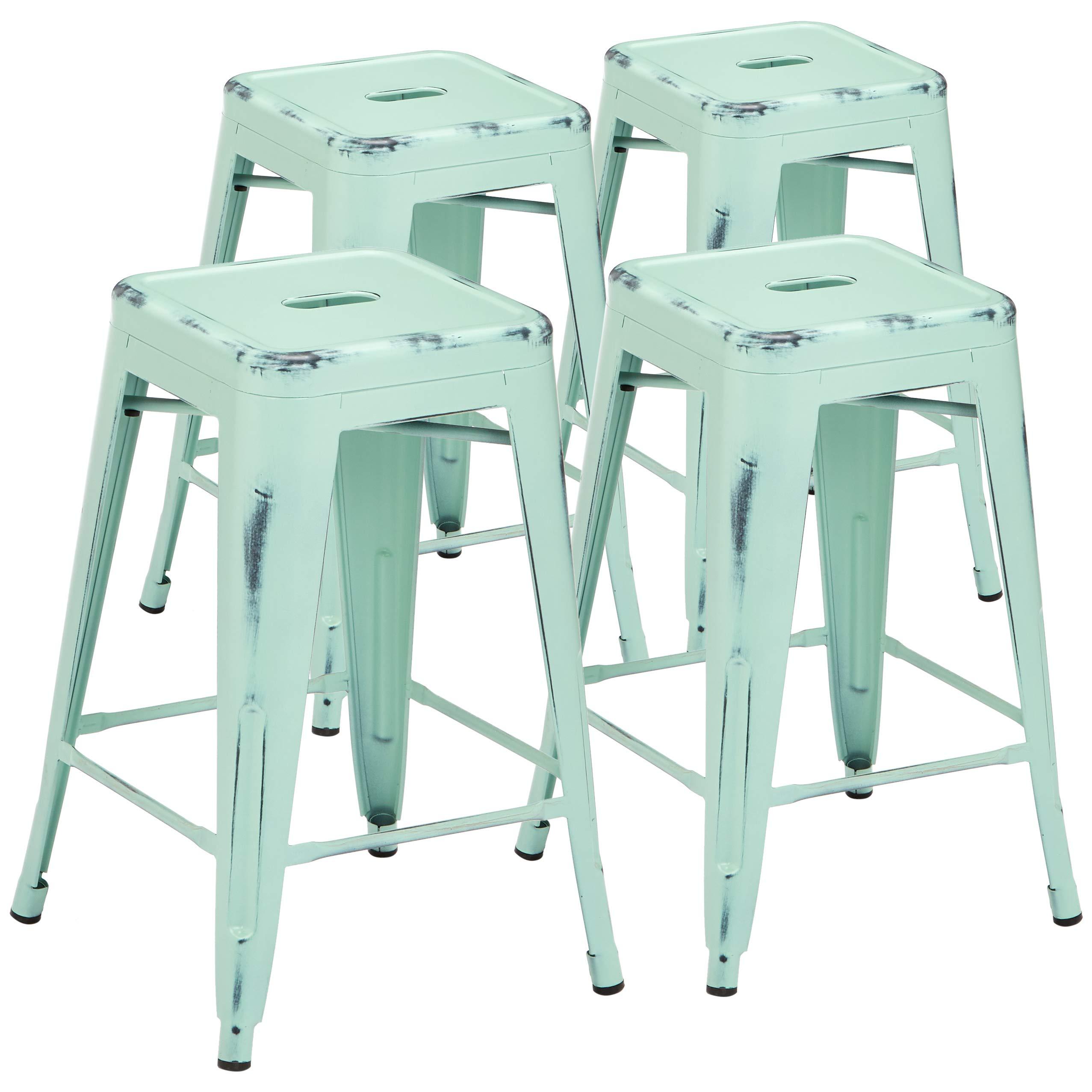 Sensational Sprogs Tolix Style Square Metal Stool 12 H Orange Spg Lamtechconsult Wood Chair Design Ideas Lamtechconsultcom