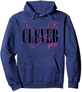 9e39186ab7 Jurassic Park Neon Pink Raptor Outline Clever Girl Hoodie