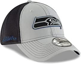 New Era Seattle Seahawks NFL 39THIRTY 2T Sided Flex Fit Meshback Hat - Gray