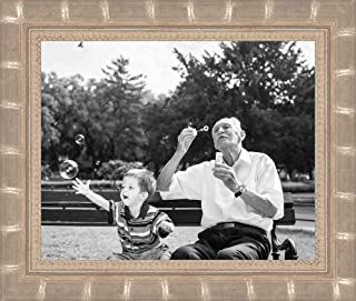 Poster Palooza 11x14 Bamboo Silver Complete Wood Picture Frame with UV Acrylic, Foam Board Backing, Hardware