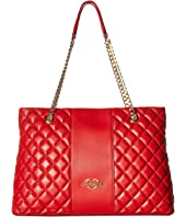 LOVE Moschino - Quilted Tote Chain Strap