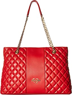 Quilted Tote Chain Strap