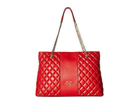 LOVE Moschino Quilted Tote Chain Strap