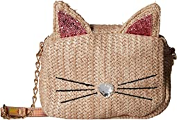 Kitty Kat & Straw Crossbody