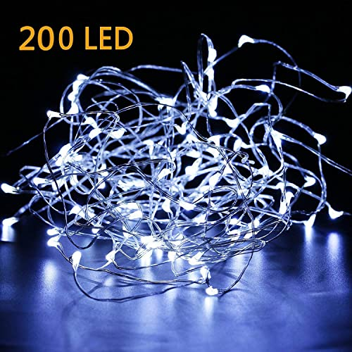 Led Christmas Light.White Wire Led Christmas Lights Amazon Com