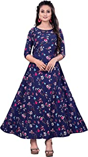 GH Creation Women's Georgette Embroidered anarkali Semi Stitched Salwar Suit/Gown