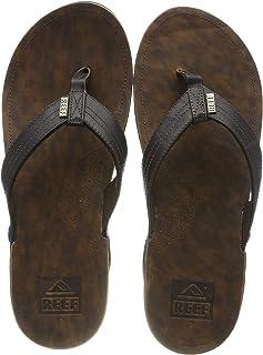 Reef Men`s Leather Sandals J-Bay III | Comfortable Leather Flip Flops for Men