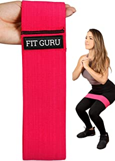 Fit Guru- Resistance band, Exercise band, booty band, resistance band exercise for legs and butt, resistance band for wome...