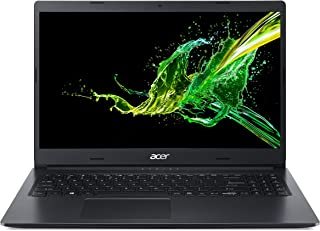 Acer Aspire 3 15.6 inches HD ComfyView LCD Laptop, Intel i3-10110U, 1.6 GHz, 4 GB RAM, 256 GB SSD, Windows 10 Home - Black