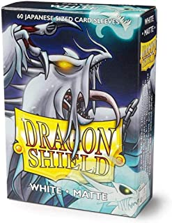 Dragon Shield Matte Mini Japanese White 60 ct Card Sleeves Individual Pack