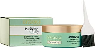 Dessange Purifying Clay Balancing System Pre Shampoo Mask, 5.09 Fluid Ounce