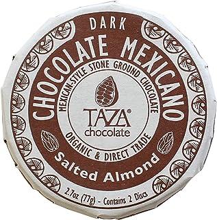 Taza Chocolate Organic Mexicano Disc 40% Dark Chocolate, Salted Almond, 2.7 Ounce (1 Count), Vegan