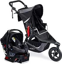 BOB Gear Revolution Flex 3.0 Travel System with Britax B-Safe 35 Infant Car Seat - Birth to 75 pounds, Graphite Black