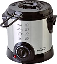 Brentwood DF-701 Electric Deep Fryer, 1-Liter, Stainless Steel