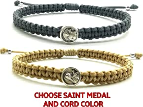 Religious Bracelets for Women Men Kids | Catholic Saint Medal - St Francis Therese Michael Benedict Clare Divine Mercy Sacred Heart Jesus Miraculous Virgin Mary Padre Pio Holy Spirit Cross Charm