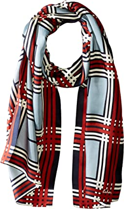 Holiday Plaid Silk Scarf