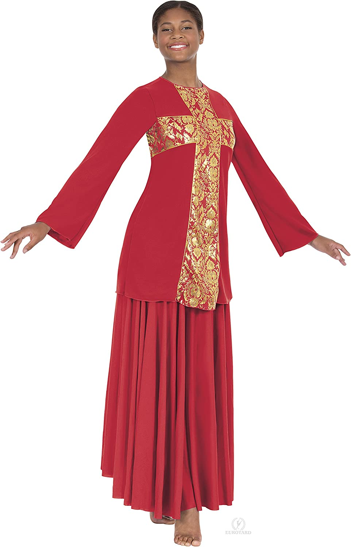 Euredard 49893 Adult Revival Collection Cross Praise Top