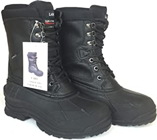 LABO Men's 10 Winter Snow Hunting Boots Shoes Waterproof Insulated 108 BLACK-7