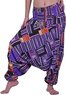Lofbaz Unisex lapptäcke hippie harembyxor casual bred yoga färgglada byxor