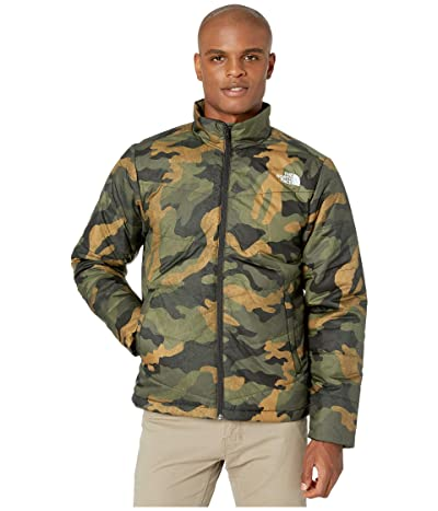 The North Face Junction Insulated Jacket (Burnt Olive Green Waxed Camo Print) Men