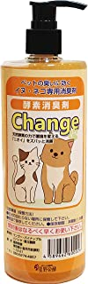 犬、猫専用酵素消臭剤Change ペット消臭スプレーで臭いを酵素の力で解消 犬、猫のデオトイレマット、消臭サンド消臭ビーズにも (250cc)