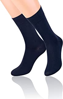 Steven, Calcetines de lujo para hombres en azul marino algodón mercerizado EU44-EU46/UK9.5 - UK11