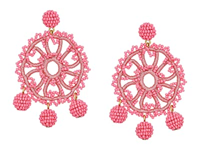J.Crew Beaded Crochet Flower Earrings (Dusty Begonia) Earring