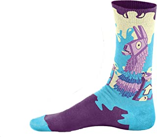 Loot Llama Socks Funny Gamer for Boys Girls Men Youth One Size Dress Cool Casual Cotton Printed Sock
