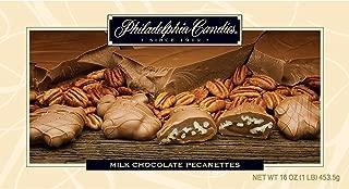Philadelphia Candies Original Pecanettes (Caramel Pecan Turtles), Milk Chocolate 1 Pound Gift Box