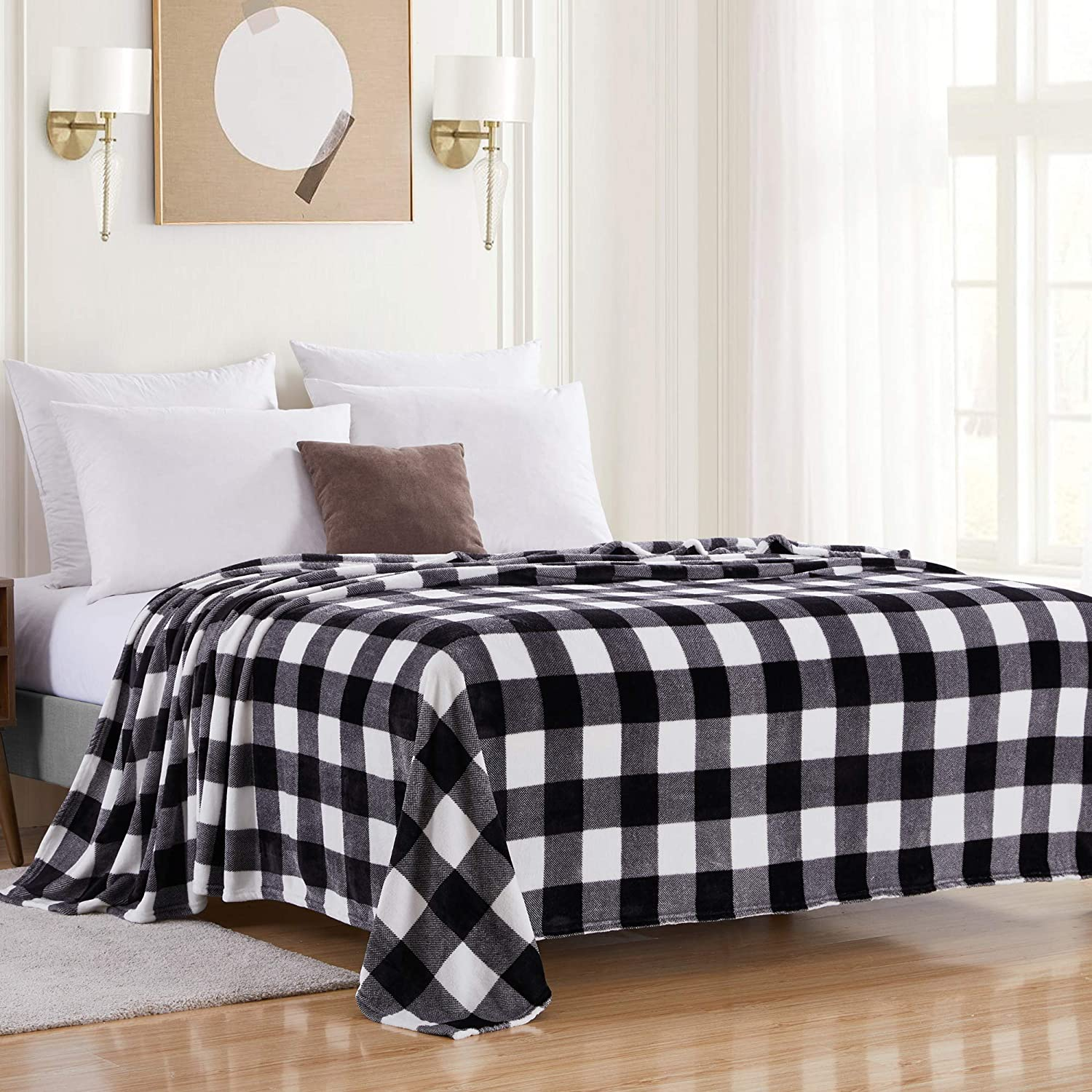 Sweet Home Collection Buffalo Plaid and Plus Wholesale We OFFer at cheap prices Fleece Soft Blanket