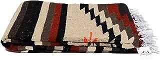 Open Road Goods Aztec Navajo Style Blanket, Throw, or Yoga Bolster - Handwoven Mexican Diamond Blanket