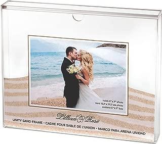 Lillian Rose US850 Clear Acrylic Unity Sand Ceremony Photo Frame, 1.6x11.4x9.25