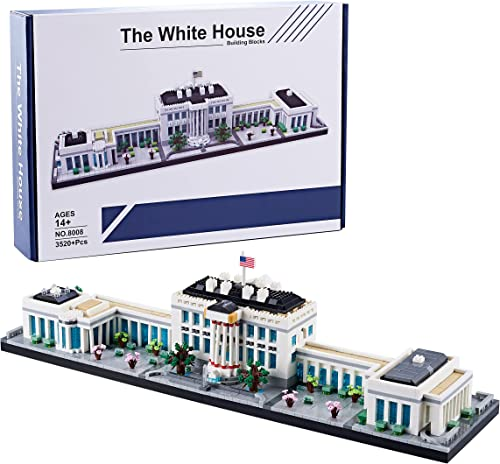high quality DAFDAG Big Architecture The White House Model Building Kit 3520+ pcs,A Great Micro Block Gift outlet online sale for online sale Adults and Kids(2021 New with Color Package) outlet sale