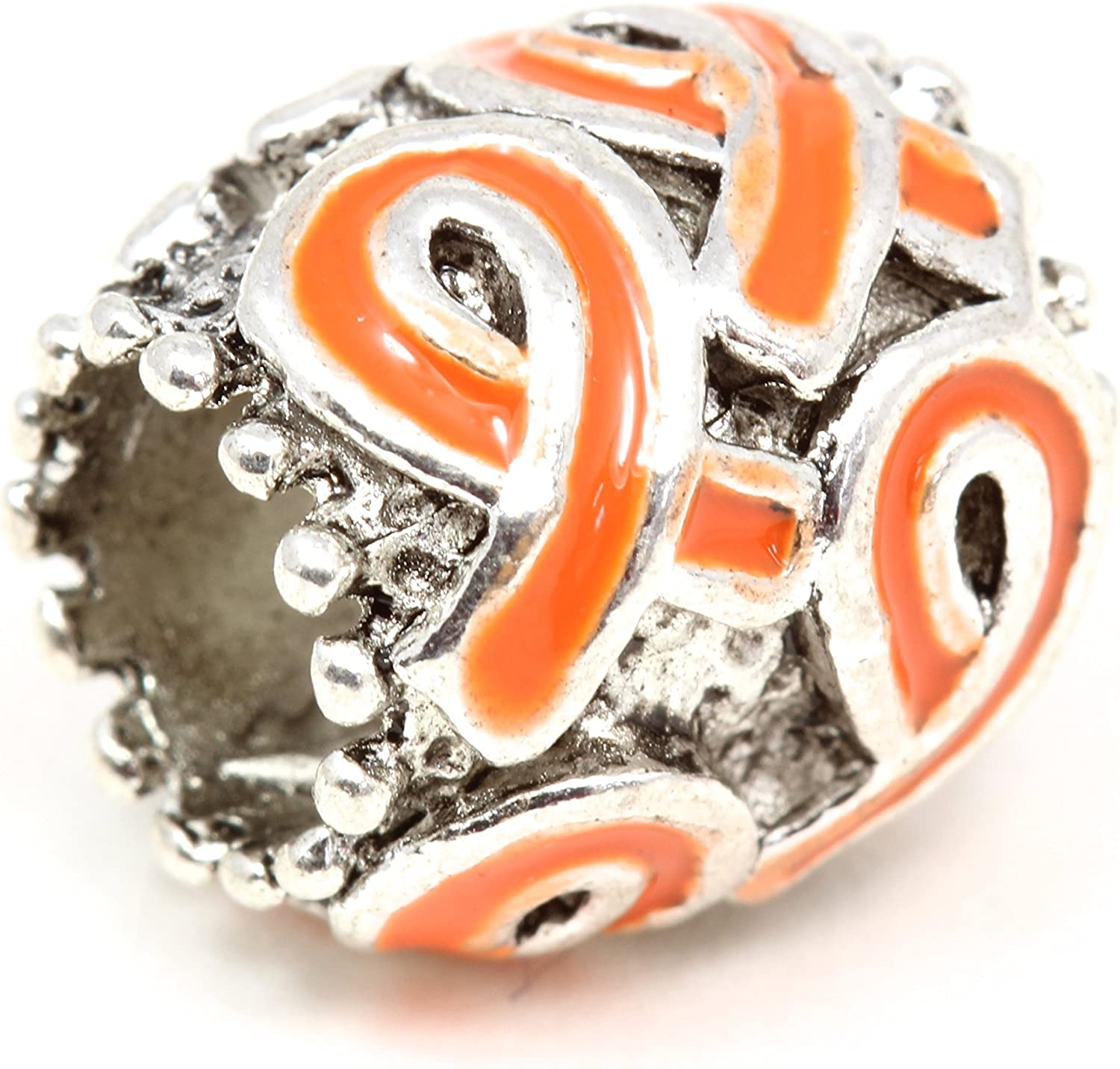 Awareness Products Warehouse Orange Multi Ribbon Bracelet Charm Buy 1 Give 1-2 Charms for only $9.99