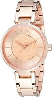 Armani Exchange Women's Rose Gold Dial Stainless Steel Band Watch - AX5317